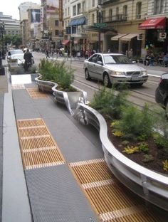 mix of materials in urban space, San Fran. Best part, hardly any notice of corp rep Audigreat mix of materials in urban space, San Fran. Best part, hardly any notice of corp rep Audi Landscape And Urbanism, Urban Landscape, Landscape Design, Garden Design, Urban Furniture, Street Furniture, Plans Architecture, Architecture Design, Architecture Diagrams