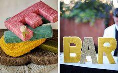 Как сделать буквы на свадьбу из картона и ниток