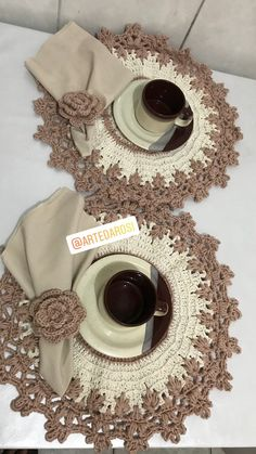 Large crochet doily Cream and beige cotton doily Round textured doily Table centerpiece Anniversary Crochet Placemat Patterns, Crochet Potholders, Crochet Cushions, Crochet Kitchen, Crochet Home, Crochet Baby, Crochet Mandala, Crochet Shawl, Knit Crochet