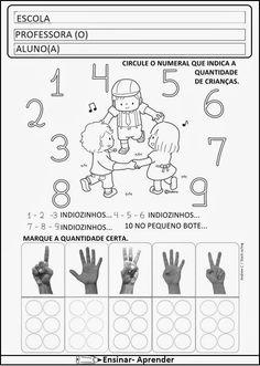 ATIVIDADES DE MATEMÁTICA PARA O 1º ANO – ALFABETIZAÇÃO | Cantinho do Educador…