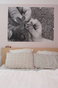 Use Engineer prints for wall art!  This is soooo inexpensive and changeable.