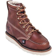 Thorogood 514 4200 womens brown eh wedge boots in Women Work Boots