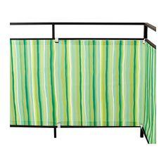 IKEA - DYNING, Wind-/zonnescherm, Beschermt tegen wind, zon of inkijk op het balkon.Met de meegeleverde banden met gespen is het wind-/zonnescherm eenvoudig vast te maken aan het balkon.