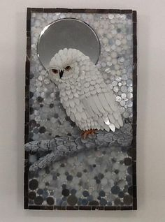 "2014 Online Art Glass Festival Mosaics 1st Place ""December Moon"" by Susan"