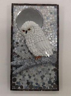 "2014 Online Art Glass Festival Mosaics 1st Place ""December Moon"" by Susan"