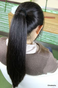 Indian Hairstyles, Ponytail Hairstyles, Pretty Hairstyles, Straight Black Hair, Straight Ponytail, Beautiful Long Hair, Gorgeous Hair, Nose Makeup, Super Long Hair