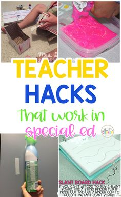 Classroom hacks that actually work in a special education classroom setting. Tried and true methods from actual teachers. Read to learn more. Classroom Hacks, Classroom Organization, Special Education Classroom, Classroom Setting, Save Your Money, Teacher Hacks, Teaching Tips, Special Needs, Corner