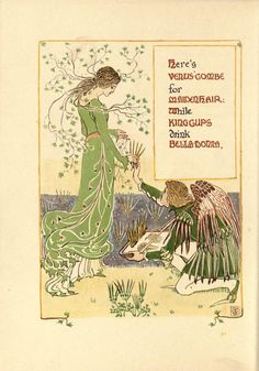 An image from A Floral Fantasy by Walter Crane.  Lovely Art Nouveau images!.