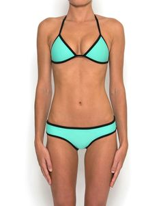 Neoprene bikini. Made out of the scuba stuff. Would feel like a total Bond girl in this!