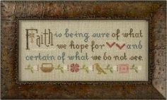 Faith Is Being Sure Cross Stitch Kit