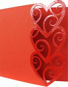 Silhouette Online Store: abstract card with hearts