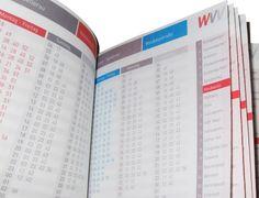 WVV Timetable by Bureau Oberhaeuser, via Behance