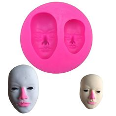 Human Face Shaped Silicone Mold