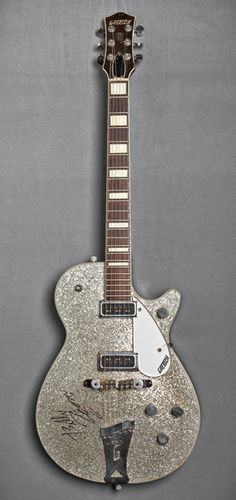Billy Zooms 1956 Gretsch Silver Jet..Zoom played with the punk band X as well as the Blasters and many other bands.