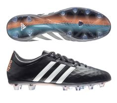 Adidas adiPure 11Pro FG Soccer Cleats  (Black/White/Flash Orange). Get your new pair of soccer boots today at SoccerCorner.com!