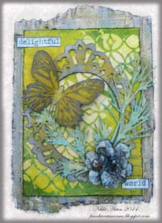 Spring colours using Butterfly Duo and Tattered Florals