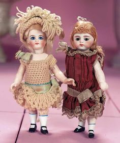 View Catalog Item - Theriault's Antique Doll Auctions - german all bisque dolls, 6""