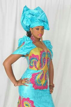 Lovely African dress & headwear!