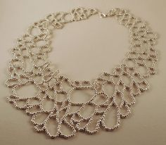 SHIPPING SALE - Silver Cellular Loops Necklace