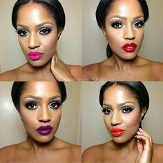#imancosmetics luxury moisturising lipstick in  #hot #scandalous #taboo and  #kinkypink  #teeka4