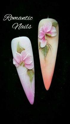 3d Nail Art, 3d Acrylic Nails, 3d Nails, Pastel Nails, Bling Nails, Nail Art Designs, Romantic Nails, Flower Nails, Beauty Nails