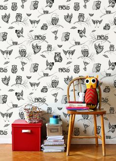 Eee! Owl wallpaper by Mini Empire