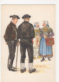 Germany, Bayerische Trachten, Gauboden Art Postcard