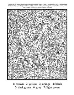 197 Best Color By Number Pages Images Coloring Books Coloring