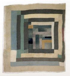 Gee's Bend quilt - not a log cabin quilt but it certainly reminds me of one - a sort of mod log cabin? Gees Bend Quilts, Impression Textile, African Quilts, Quilt Modernen, Morris, Log Cabin Quilts, Art Textile, Textiles, Contemporary Quilts