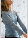 Oriel lady Lace knit Blouse sweater  in my queue