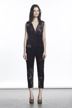 The Rachel Comey Trends All The Cool Girls In Your Crew Will Be Wearing #refinery29  http://www.refinery29.com/2015/02/82263/rachel-comey-fall-ny-fashion-week-2015#slide-21  Rachel's seasonal lace jumpsuit looks better than ever this time.