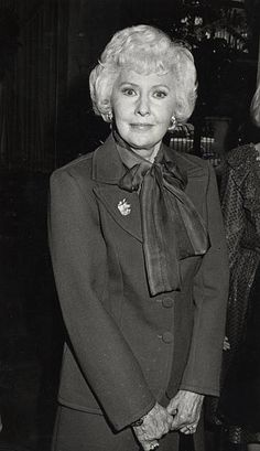Actress Barbara Stanwyck attends 43rd Annual Women's Press Club Golden Apple Awards on December 11 1983 at the Beverly Wilshire Hotel in Beverly...