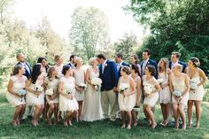 She had a ton of bridesmaids too