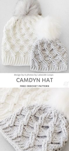 crochet hats Ever struggled with keeping your bun under your beanie? Struggle no more! Messy bun crochet beanies are easy to wear and look very cute. Thanks to nice hole at the top you ca Crochet Gratis, Cute Crochet, Knit Crochet, Crochet Owls, Baby Hat Crochet, Crochet Winter Hats, Doilies Crochet, Crocheted Hats, Chunky Crochet Hat