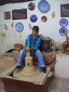 Pottery making in Capadocia Goreme Turkey