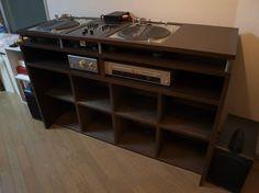 Inlay turntables w/ vinyl storage