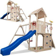 wickey spielturm freeflyer kletterturm mit rutsche schauk. Black Bedroom Furniture Sets. Home Design Ideas
