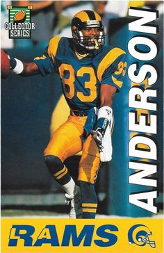 e5f8eb58a 1994 l.a. rams collector series  Football schedule by the l. a. times  anderson. from  3.05