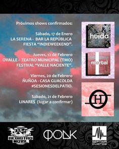 Cambios y nuevas fechas en mis #shows de verano. Próximo sábado en #LaSerena. 12/02: #Ovalle - 20/02: #SCL - 21/02: #Linares