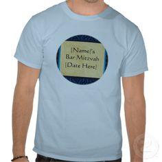 Custom Bar Mitzvah T-Shirts #barmitzvah #zazzle