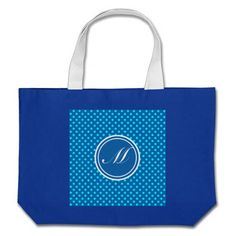 Dazzling Blue Monogram and Polka Dot Canvas Bags