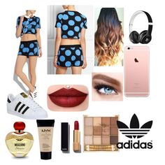 """""""ADIDAS"""" by chloe-ashforth on Polyvore featuring adidas, adidas Originals, Beats by Dr. Dre, Maybelline, Chanel, NYX and Moschino"""