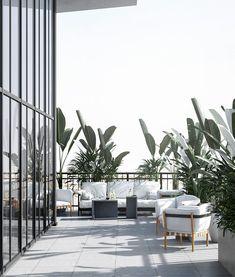 Penthouse Art Deco modern, Asmita Gardens, București - Creativ-Interior Terrace Floor, Balcony Design, Outdoor Furniture Sets, Outdoor Decor, House Roof, Art Deco, Interior Design, Gatsby, Greenery