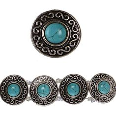 Bead Gallery Silver-Plated Slider, Turquoise Howlite