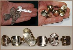 Coinrings Spoonrings Cartridge Rings Lure Rings Shotgun Shell RingsAnd Today My New Rings Made Out Of These Which We have All Dug Plenty Of Friendly Metal Detecting Foru. Key Jewelry, Silverware Jewelry, Spoon Jewelry, Spoon Rings, Metal Jewelry, Jewelry Crafts, Jewelery, Handmade Jewelry, Key Rings