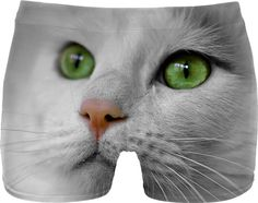 5ae7e7354 White Cat wit Green Eyes Men Underwear #erikakaisersot #RageOn #underwear # cats White