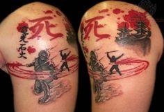 anime japanese shoulder tattoo1