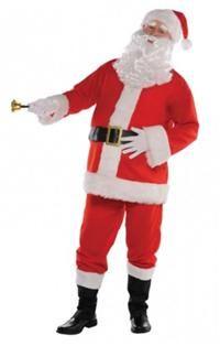 Noel baba kostümünün ceketi peluş kürk bordürlü ve kemer