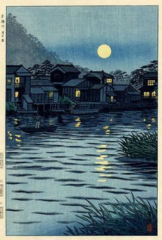 Rising Moon at Katase River