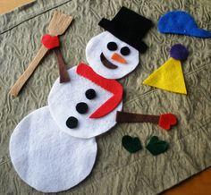 Felt Snowman Building Activity Kit and Busy Bag